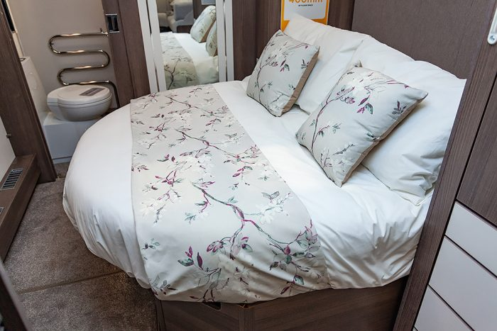 Jonic 2020 Compass Sophia Scheme Island Bed Best Caravan Bedding Motorhome Boat Mattress Mattresses UK Made