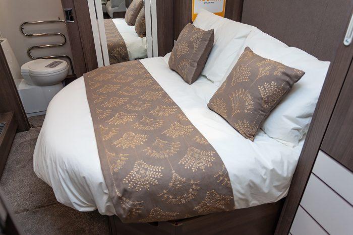 Jonic 2020 Compass Xanthe Scheme Island Bed Best Caravan Bedding Motorhome Boat Mattress Mattresses UK Made